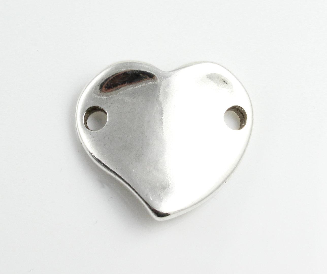 versilbert Herz