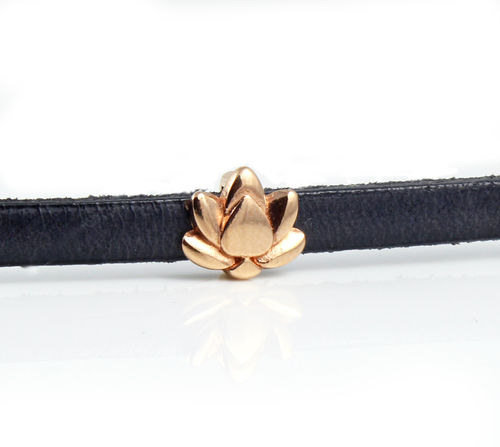 Zamak Schieber Lotus-rose vergoldet- Ø 5 x 2 mm